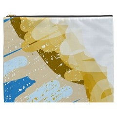 Artistic Pastel Pattern Cosmetic Bag (xxxl)  by Valentinaart