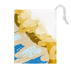 Artistic Pastel Pattern Drawstring Pouches (extra Large) by Valentinaart