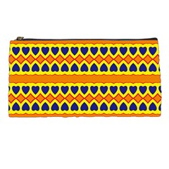 Hearts And Rhombus Pattern                                                                                          pencil Case by LalyLauraFLM