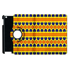 Hearts And Rhombus Pattern                                                                                         			apple Ipad 2 Flip 360 Case by LalyLauraFLM