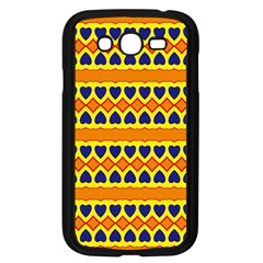 Hearts And Rhombus Pattern                                                                                         			samsung Galaxy Grand Duos I9082 Case (black) by LalyLauraFLM