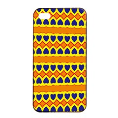 Hearts And Rhombus Pattern                                                                                         			apple Iphone 4/4s Seamless Case (black) by LalyLauraFLM