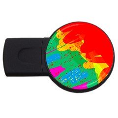 Colorful Abstract Design Usb Flash Drive Round (2 Gb)  by Valentinaart