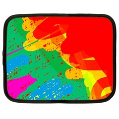 Colorful Abstract Design Netbook Case (large) by Valentinaart