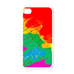 Colorful Abstract Design Apple Iphone 4 Case (white) by Valentinaart
