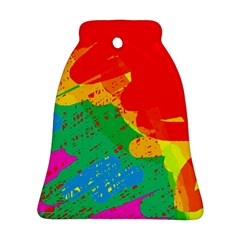 Colorful Abstract Design Bell Ornament (2 Sides) by Valentinaart