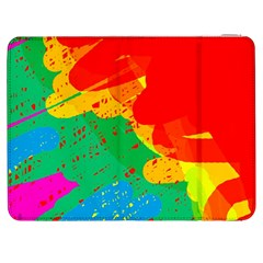 Colorful Abstract Design Samsung Galaxy Tab 7  P1000 Flip Case by Valentinaart