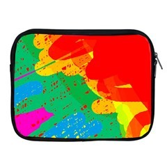 Colorful Abstract Design Apple Ipad 2/3/4 Zipper Cases by Valentinaart
