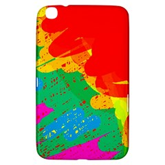 Colorful Abstract Design Samsung Galaxy Tab 3 (8 ) T3100 Hardshell Case  by Valentinaart