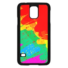Colorful Abstract Design Samsung Galaxy S5 Case (black) by Valentinaart