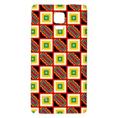Squares and rectangles pattern                                                                                         Samsung Note 4 Hardshell Back Case by LalyLauraFLM