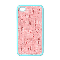 Elegant Pink Pattern Apple Iphone 4 Case (color) by Valentinaart