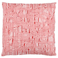 Elegant Pink Pattern Large Flano Cushion Case (one Side) by Valentinaart