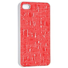 Red Pattern Apple Iphone 4/4s Seamless Case (white) by Valentinaart