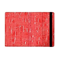Red Pattern Apple Ipad Mini Flip Case by Valentinaart