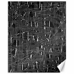 Gray Pattern Canvas 11  X 14   by Valentinaart