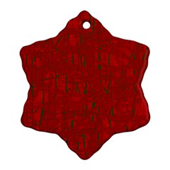 Red pattern Ornament (Snowflake)  by Valentinaart