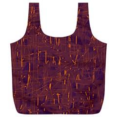 Purple Pattern Full Print Recycle Bags (l)  by Valentinaart