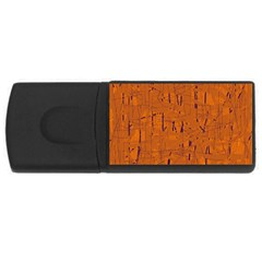 Orange Pattern Usb Flash Drive Rectangular (4 Gb)  by Valentinaart