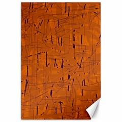 Orange Pattern Canvas 20  X 30   by Valentinaart