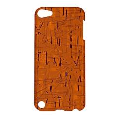 Orange Pattern Apple Ipod Touch 5 Hardshell Case by Valentinaart