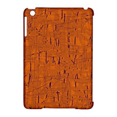 Orange Pattern Apple Ipad Mini Hardshell Case (compatible With Smart Cover) by Valentinaart