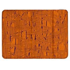 Orange pattern Samsung Galaxy Tab 7  P1000 Flip Case by Valentinaart