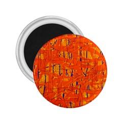 Orange Pattern 2 25  Magnets by Valentinaart