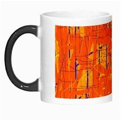 Orange Pattern Morph Mugs by Valentinaart