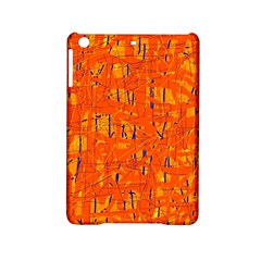 Orange Pattern Ipad Mini 2 Hardshell Cases by Valentinaart