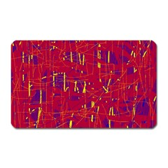 Red And Blue Pattern Magnet (rectangular) by Valentinaart