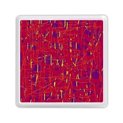 Red And Blue Pattern Memory Card Reader (square)  by Valentinaart