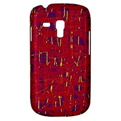 Red And Blue Pattern Samsung Galaxy S3 Mini I8190 Hardshell Case by Valentinaart