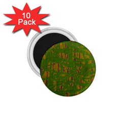Green Pattern 1 75  Magnets (10 Pack)  by Valentinaart