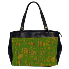 Green Pattern Office Handbags (2 Sides)