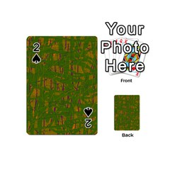 Green Pattern Playing Cards 54 (mini)  by Valentinaart