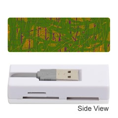 Green Pattern Memory Card Reader (stick)  by Valentinaart