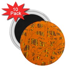 Orange Pattern 2 25  Magnets (10 Pack)  by Valentinaart