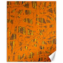 Orange Pattern Canvas 11  X 14   by Valentinaart