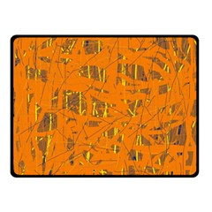Orange Pattern Double Sided Fleece Blanket (small)  by Valentinaart