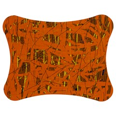 Orange pattern Jigsaw Puzzle Photo Stand (Bow) by Valentinaart