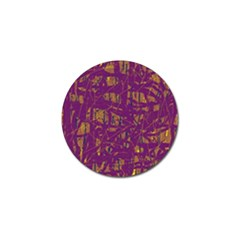 Purple Pattern Golf Ball Marker (4 Pack) by Valentinaart