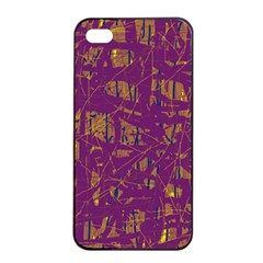 Purple Pattern Apple Iphone 4/4s Seamless Case (black) by Valentinaart