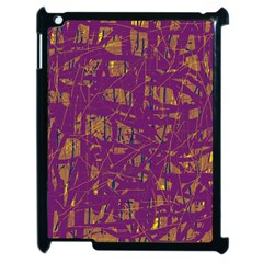 Purple Pattern Apple Ipad 2 Case (black) by Valentinaart