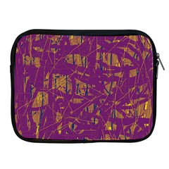 Purple Pattern Apple Ipad 2/3/4 Zipper Cases by Valentinaart