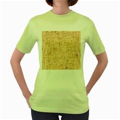 Elegant Patterns Women s Green T Shirt by Valentinaart