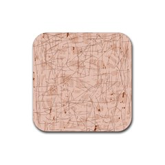 Elegant patterns Rubber Square Coaster (4 pack)  by Valentinaart