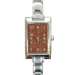 Brown Pattern Rectangle Italian Charm Watch by Valentinaart