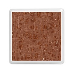 Brown Pattern Memory Card Reader (square)  by Valentinaart