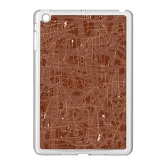 Brown Pattern Apple Ipad Mini Case (white) by Valentinaart